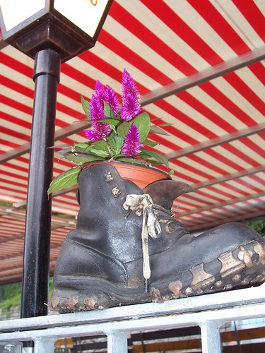 Walking boot flower pot