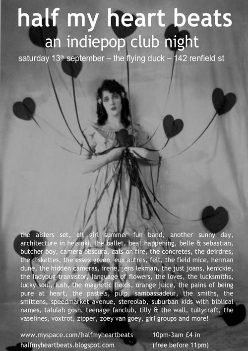 Half My Heart Beats - an indiepop club night, Glasgow - anorak