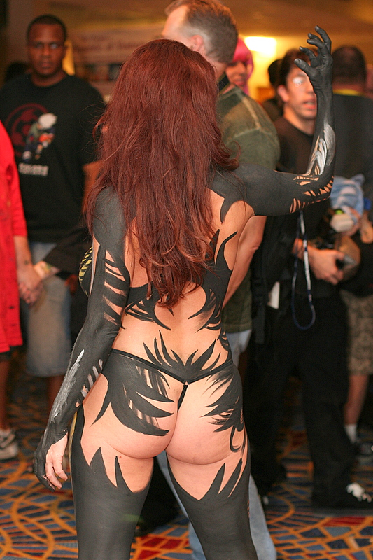 witchblade full back body painting