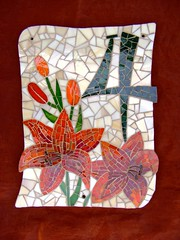 House number 4 (stiglice - Judit) Tags: four lily mosaic housenumber