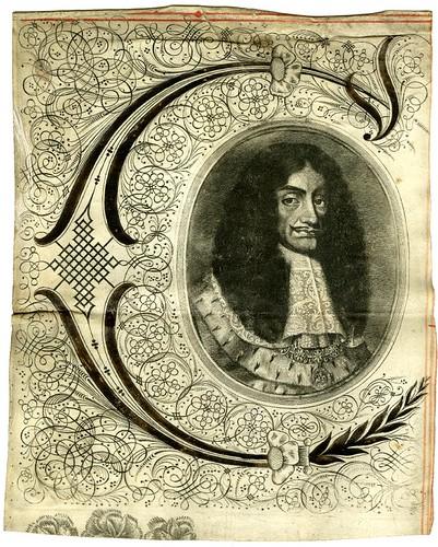 30- Otra incial con portarretrato de Carlos II de un documento de 1660