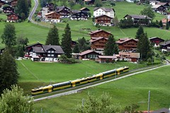 CH Wengeralpbahn 142  Grindelwald 08-08-2008 (peters452002) Tags: railroad travel train schweiz swiss eisenbahn rail railway zug trains etrain bahn railways trein railroads spoor spoorwegen switserland treinen zwitserland 5photosaday olympuse510 clickcamera peters452002