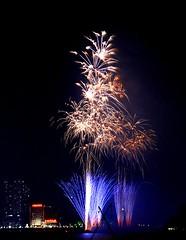 lovley blue busrts into gold pops (EpicFireworks) Tags: cake guyfawkes bonfire pyro 13g barrage pyrotechnics epicfireworks