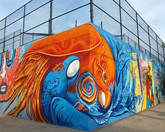 Bushwick Graffiti Mural, Brooklyn New York City (jag9889) Tags: county street city nyc ny newyork art brooklyn graffiti mural artist kings avenue bushwick cru tats knickerbocker not