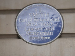 Photo of F. E. Smith blue plaque