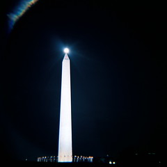 Diana catches the moon balancing on the Washington Monument (kevin dooley) Tags: camera eve light favorite moon color 120 film monument beautiful night analog ball wow mall dark golf lens toy evening dc washington interesting fantastic long exposure flickr pretty fuji very good gorgeous awesome tripod perspective award superior super right best full iso plastic most diana together national correct winner stunning excellent pro fujifilm medium format much incredible tee breathtaking exact touching exciting toycam 160 phenomenal npl aplusphoto