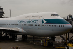 Cathay Pacific (Michael Rehfeldt) Tags: nose hkg 747400 cathaypacific cheklapkok vhhh aircraftphoto