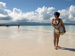 Morning stroll along a Boracay beach (boracayeveryday) Tags: baby sexy weather kids clouds swimming swim kid coconut shoreline bluesky shore beachbabe swimsuit coconuts crystalclear beachbaby