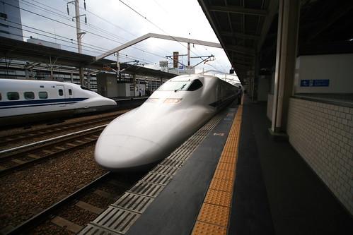Passing Shinkansen by laszlo-photo, on Flickr