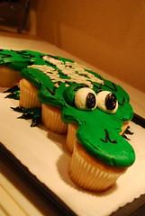 Awesome Cake! (jillmotts) Tags: cake cupcakes birthdaycake safeway alligatorcake safewaycake pullapartcake