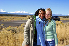 Tamara and Rayne at The Three Sisters; The Fair Trade movie