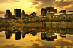 Autumn sunset - Montreal (Nino H) Tags: autumn light sunset sky canada fall colors skyline architecture buildings montral market quebec lumire montreal qubec oldmontreal march hdr vieuxmontral bonsecours anawesomeshot gettyimagescanada