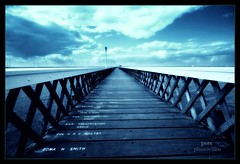 we're on a road to nowhere (photocillin) Tags: blue england pier nowhere wide perspective picasa tint hampshire isleofwight yarmouth picnik iow sigma1020mm nohorizon goldstaraward hdrishbutitsnot timconcept