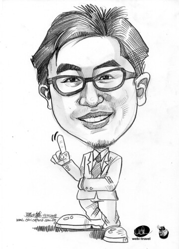 Caricatures Web in Travel 2008 Alred Chang