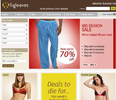 Figeaves homepage
