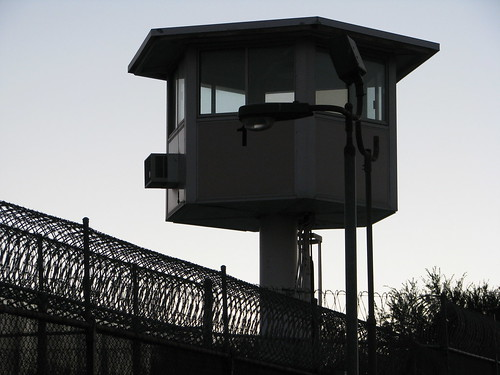 prison guard tower by Rennett Stowe, on Flickr