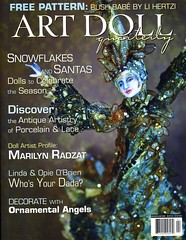 Cover of ADQ Winter 2009 issue (I have a 5 page spread about my dolls in it!)