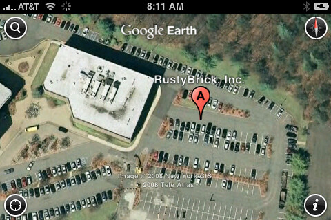 Google Earth on iPhone