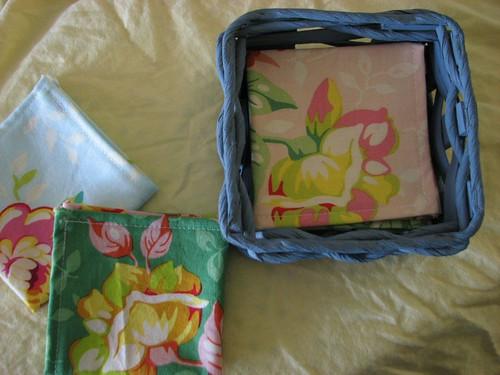 Handkerchiefs in a basket