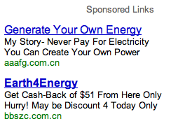Hacked AdWords Ads