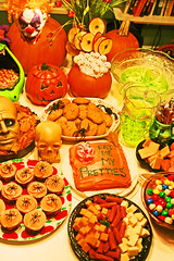 Dread Spread 2008 (boopsie.daisy) Tags: party food orange halloween cookies cake table skull spread spider cupcakes yummy october candy head spiders witch treats pumpkins junkfood apples ghosts snacks appetizers goodies 31st
