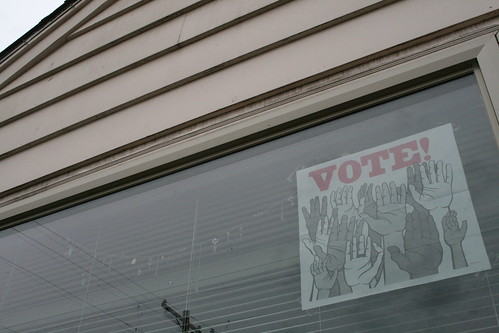 vote: in my front window