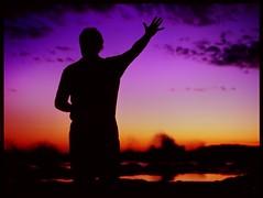 catch a distant wave (mugley) Tags: ocean sunset sea portrait man 120 film beach water silhouette clouds mediumformat nationalpark rocks waves fuji purple wave australia slide victoria epson velvia100 6x45 e6 mamiya645 bloke wideopen v700 thetencommandments southgippsland mamiya645protl m645 bunurong vermininc fujichromevelvia100rvp 80mmf19sekorc marineandcoastalpark