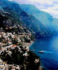 Sorrento, Italy and the Deep Blue Sea (moonjazz) Tags: blue sea italy baby nature water beauty landscape bay coast italia ship cove jagged bella sorrento amalfi steep wealth 5photosaday mywinners abigfave colorphotoaward colourartaward flickrlovers