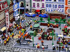 city square (eτi) Tags: city houses scale square lego cologne köln modular minifig plein stad eti huizen keulen legofanwelt