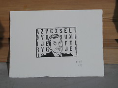(nadie en campaña) Tags: stencil screenprint nadie serigrafia megafon streetartforstreetpapers