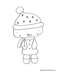 free snowman or should I say lady.. (annieoakleaves) Tags: christmas winter snow snowman pattern embroidery free sew floss annieoakleaves
