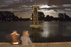 The diving board at Coate Water by moonlight (robertsladeuk) Tags: old uk greatbritain ladies england people woman moon lake man male men english heritage history architecture lady female night clouds digital rural buildings outside outdoors person countryside twilight ancient women europe britishisles cloudy unitedkingdom dusk traditional country swindon relaxing restful peaceful bank wideangle historic reservoir gb moonlight wiltshire idyllic tranquil europeanunion divingboard coatewater robertslade disc090 zzzslade zzzflickrmp robertmanorphotographycom