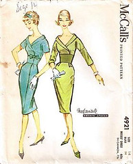 mccall's dress 4921 (carbonated) Tags: vintage sewing patterns 1950s mccall mccalls