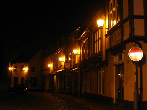 Elm Hill at night