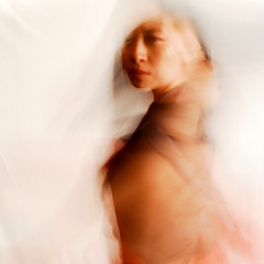 woman in the studio (craigCloutier) Tags: red portrait orange woman blur color girl face lady hair asian person dance movement eyes long exposure chinese human shoulder studiomotion