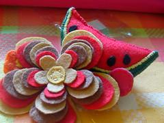 Coisas de Feltro (By Bitaty) Tags: flor melancia e feltro em