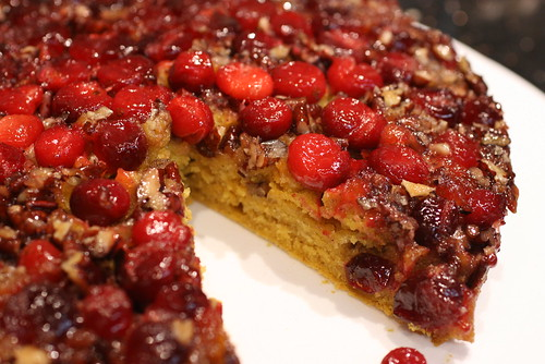 upside down cranberry pumpkin cake 4