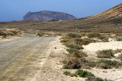 Path (Katka B.) Tags: sea españa landscape island islands la spain sand erasmus path small lanzarote canarias atlantic canary 2008 islas reservation graciosa llp