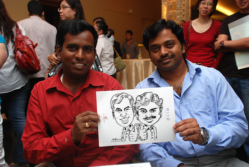 Caricature live sketching for Far East Organisation SPH Media Night The Miro 10