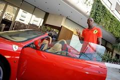Usain Bolt drives a F430 Spider ....