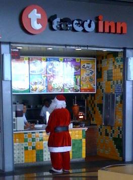 Santa Claus in the wild