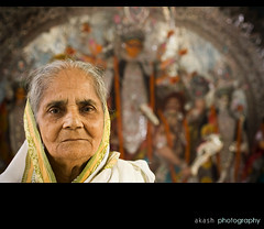 My Grandmom (@k@sh) Tags: canon 350d 50mm mother grand mon kolkata durga akash