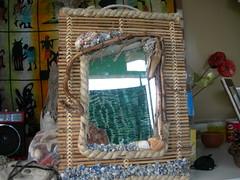 Specchio canna (**pegaso**) Tags: arte hobby specchi portachiavi lampade portafoto