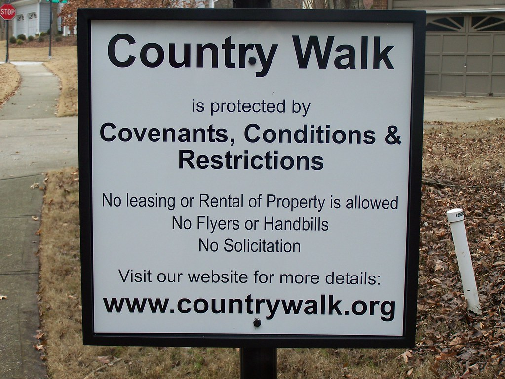 Country Walk covenants sign