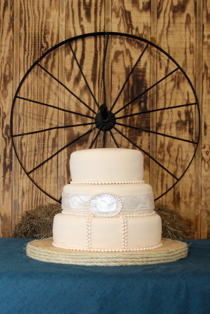 Country Western-themed Wedding Cake