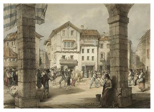025- La plaza de Hernani 1839- Copyright 2009 álbum SIGLO XIX. Diputación Foral de Gipuzkoa