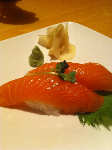 Aikia Steakhouse Salmon Sushi