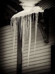 Icicles (RD Crisp Photography) Tags: canada cold ice frozen alberta icicles chairlift banffnationalpark skibig3 mtnorquay mountnorquay niksoftware silverefexpro