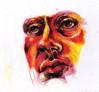 sw (amandamackenzienoice) Tags: portrait art face pen ink sketch drawing marker crayon