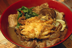 Soft Shelled Crab on Noodle Soup